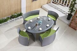 High Living OutdoorIndoor Restaurant Lounge Bar Patio Modern Dining Table Set