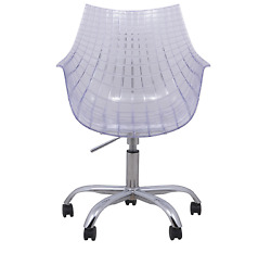 Executive Office Chair Adjustable Height Swivel Design Furniture Plastic Clear