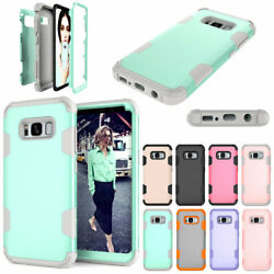 For Samsung Galaxy S8  S8+ Plus Phone Case Heavy Duty Tough Hard Rubber Cover