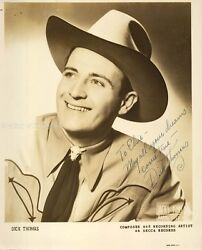 DICK THOMAS - INSCRIBED PHOTOGRAPH SIGNED