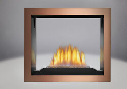 NAPOLEON HD81 SEE-THRU GAS FIREPLACE AS PICTURED w COPPER FACE