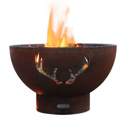Fire Pit Art Antlers Fire Pit Electronic Ignition Propane