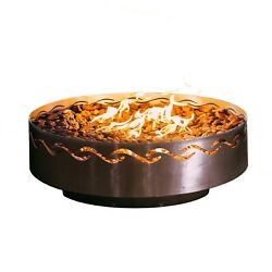 Fire Pit Art Fire Surfer Fire Pit 24-Inch Electronic Ignition Natural Gas