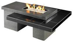 Outdoor Greatroom Uptown Black Gas Fire Pit with 24x12 Inch Burner