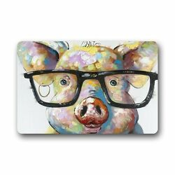 Cute Little Pig Custom Outdoor Washable Doormat Bath Kitchen 23.6X15.7 Inch