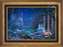 Thomas Kinkade Cinderella Dancing in the Starlight 24 x 36 LE EECanvas Disney