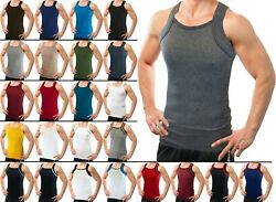 Different Touch Men#x27;s G unit Style Tank Tops Square Cut Muscle Rib A Shirts $19.99