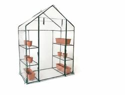 6-Shelf 3-Tier Walk-In Greenhouse Heavy Duty Plastic Cover Patio Yard Outdoor