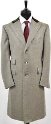 NEW CESARE ATTOLINI OVERCOAT JACKET  CASHMERE GOAT HAIR SIZE 42 US 52 EU R7 AT22