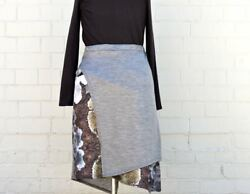 NEW Merino Hexy Lichen Print Skirt The Spotted Quoll Womens Fashion Accessories