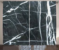 Marble Curtains Grunge Natural Stone Window Drapes 2 Panel Set 108x90 Inches