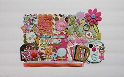 Happy Day Greenhouse K&Co Custom Chipboard Mini Book Album DIY Kit Scrapbooking