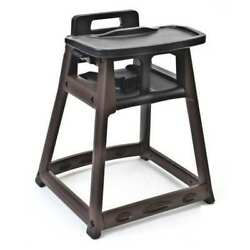 CSL FOODSERVICE AND HOSPITALITY 851BLK Black Plastic High Chair Tray