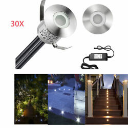 30X 22mm 0.6W 12V Outdoor Yard Patio Step Driveway Patio LED Deck Rail UP Lights