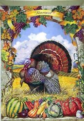 Turkey Harvest Thanksgiving Panel - Quilt Kit 100% Cotton