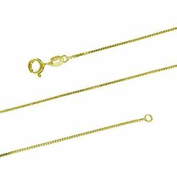 10K Yellow Gold Box Chain Necklace 18 202224 $55.00