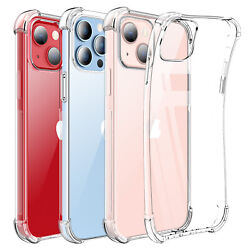 For iPhone 13MiniPro Max Clear Case Shockproof Crystal Cover Tempered Glass $8.96