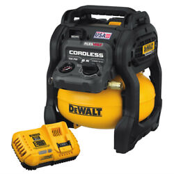 DEWALT DCC2560T1 60V MAX FLEXVOLT 2.5 Gallon Oil Free Pancake Air Compressor New $289.99