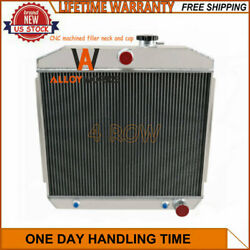 4 Row Core Aluminum Radiator For 1955-1957 Chevy Bel-AirOne-FiftyTwo-Ten V8 $199.00