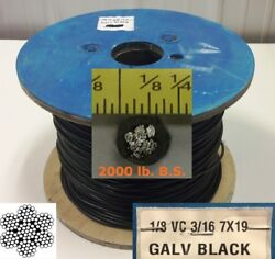 Vinyl Coated Steel Aircraft Cable Wire Rope 10' 18