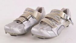 WOMENS SCOTT CARBON PRO CYCLE SHOES $70 41 light grey silver USED $21.75