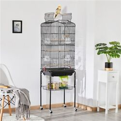 64#x27;#x27; Play Open Top Small Parrot Cockatiel Conure Parakeet Bird Cage with Stand $62.99