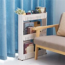 Slim Slide Out Storage Kitchen Pull Out Cart Trolley Shelf Narrow Places Rack $18.99