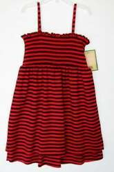 Juicy Couture Girls Beach Baby Red Navy Striped Coverup Dress L NWT $9.99