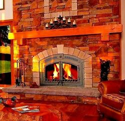 NEW NAPOLEON NZ6000 WOOD BURNING FIREPLACE AS PICTURED W WROUGHT IRON FRONT