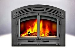 EPA APPROVED WOOD FIREPLACE - NAPOLEON NZ3000H - AS PICTURED W MODERN SURROUND