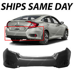 NEW Primered Rear Bumper Cover Replacement for 2016-2019 Honda Civic Sedan 16-19 $96.06