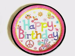 HAPPY PARTY 16 PAPER LUNCH PLATES 9quot; DIAM. PARTY SUPPLIES $4.99