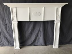 Fireplace Mantel Primed White1005A  Free Shipping. Custom Sizes