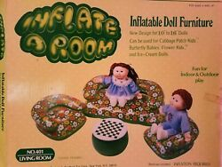Vintage Inflatable Doll Furniture. Inflate A Room used for Cabbage Patch Kids.