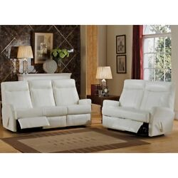 Leather Sofa and Loveseat Set White She Shed Furniture + Room of Choice Delivery