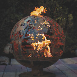 Wildlife Laser Cut Fire Pit Globe- Large