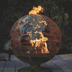 Wildlife Laser Cut Fire Pit Globe- Extra Large