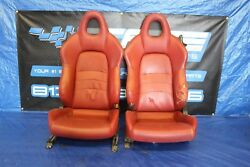 2001-03 HONDA S2000 AP1 F20C OEM FACTORY RED LEATHER FRONT SEATS ASSEMBLY #3204