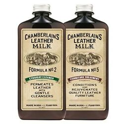 Leather Milk Leather Furniture Cleaner Conditioner Kit (2 Bottle Furniture Care