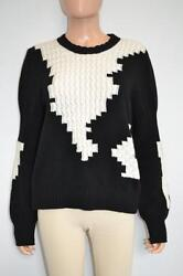 Chanel BlackWhite Cashmere Long Sleeve Sweater Size 44 3.8K