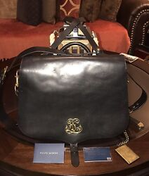 Ralph Lauren Runway Collection Womens 100% Leather Backpack Bag Made In Italy