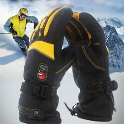 Electric Heated Gloves Warmer Powered Battery Winter Motorcycle Hands 7.4v