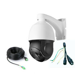 4.5'' 30X ZOOM AHD 1080P 2.0MP PTZ Speed Dome IR Camera Night Outdoor + Cable15M