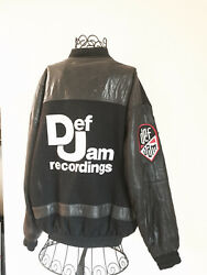 Vintage Def Jam Wool and Leather Jacket XL  used  limited edition  collectors