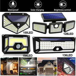 LED Solar Power PIR Motion Sensor Wall Light Outdoor Yard Garden Lamp Waterproof $4.99