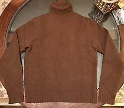 Ralph Lauren 100% Luxurious Cashmere Turtle Neck Sweater Italian Yarn Sz Medium