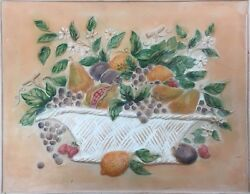 16 x 20  Ceramic Tile Fruit Mural for kitchen Back-splash Over Stove
