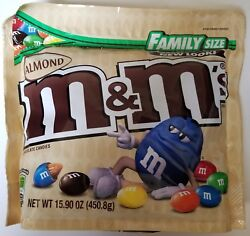 NEW Sealed Almond M&M's Family Size 15.90 oz Bag FREE WORLDWIDE SHIPPING $14.99