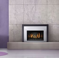 NAPOLEON - IR3G GAS FIREPLACE INSERT W CHROME SURROUND GLASS AS PICTURED