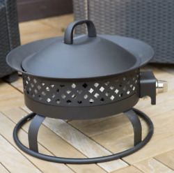 RV Propane Fire Pit Portable Patio Furniture Outdoor Gas Small Camping Heater